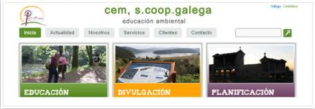 Web corporativa Cem, S.coop. Galega