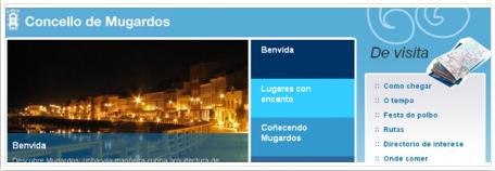 Portada de la nueva web del ayuntamiento de Mugardos
