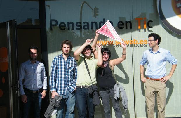 Equipo de Sdweb en las oficinas de Santiago de Compostela
